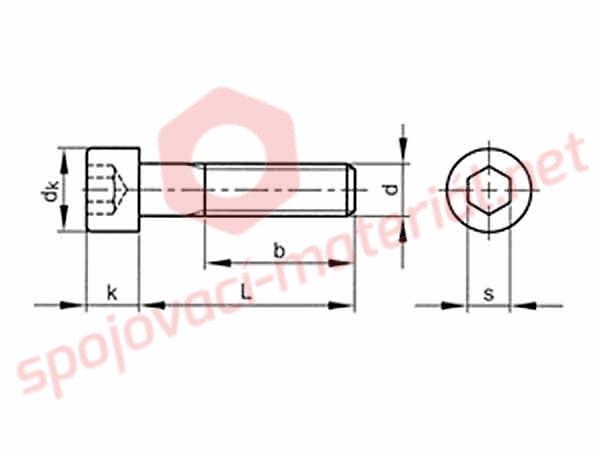 roub v lcov n zk hlava inbus din 7984 m6x25 8 8. Black Bedroom Furniture Sets. Home Design Ideas