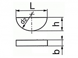 Pero Woodruffovo DIN 6888 2x5