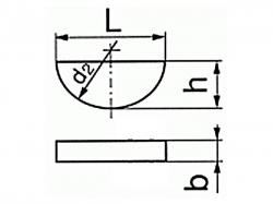 Pero Woodruffovo DIN 6888 2,5x3,7