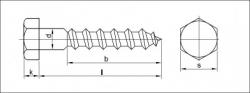 Vrut do dřeva šestihranná hlava DIN 571 6x25 zinek bílý