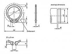 Pojistný kroužek na hřídel DIN 471 - 105 mm