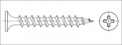 Vrut sádrokarton zápustný dvouchodý 4,8x90 fosfát