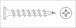 Vrut sádrokarton zápustný COARSE 3,9x45 fosfát
