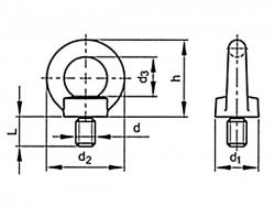 Šroub závěsný DIN 580 M30 pozink C15