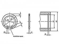 Pojistný kroužek do díry DIN 472 - 75 mm nerez A1