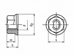 Matice samosvorná s límcem DIN 6927 M8 |08| pozink