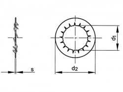 Podložka vějířová vnitřní DIN 6798I M5 / 5,3 pozink