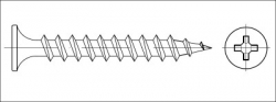 Vrut sádrokarton zápustný dvouchodý 3,9x45 fosfát