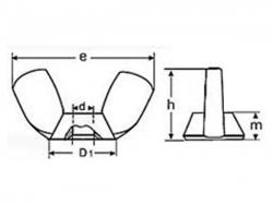 Matice křídlová DIN 315A M16 nerez A2