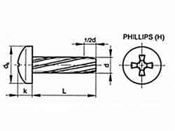 Šroub závitořezný phillips DIN 7516A M3x20 pozink