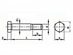 Šroub lícovaný krátký závit DIN 610 M16x60-8.8 bez PÚ