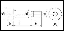 Šroub lícovaný inbus ISO 7379 M5 6x6-12.9