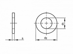 Podložka plochá pod válcovou hlavu DIN 433 M3 / 3,2