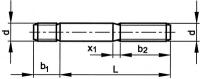 Šroub závrtný do oceli DIN 938 M14x100-8.8