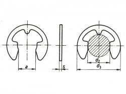 Pojistný kroužek třmenový DIN 6799 - 1,2 nerez A1