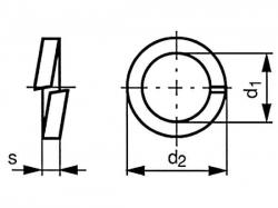 Podložka pružná DIN 127B M52 / 53,0