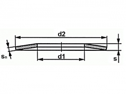 Talířová pružina DIN 2093 10,0x04,2x0,50
