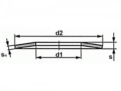 Talířová pružina DIN 2093 16,0x08,2x0,40