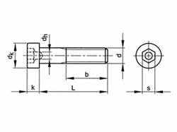 Šroub inbus se středící dírou DIN 6912 M12x50-8.8