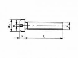 Šroub nízká válc.hl. - drážka DIN 85 M4x12 pozink