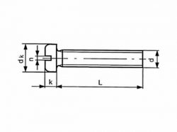 Šroub nízká válc.hl. - drážka DIN 85 M4x20 pozink