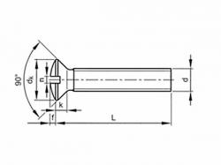 Šroub čočková hlava - drážka DIN 964 M5x12 pozink