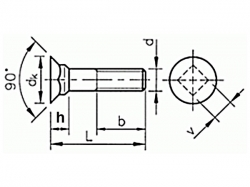 Šroub pluhový DIN 608 M12x35-8.8
