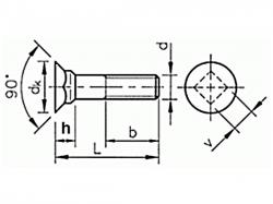 Šroub pluhový DIN 608 M12x90-8.8