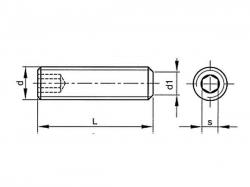 Šroub stavěcí plochý - inbus DIN 913 M4x4
