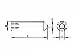 Šroub stavěcí s hrotem-inbus DIN 914 M6x16
