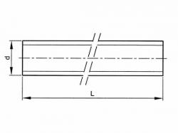 Závitová tyč DIN 975 M52x1000-8,8