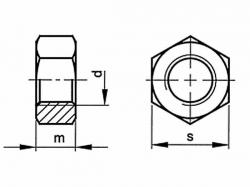 Matice DIN 934 M36 |08| pozink