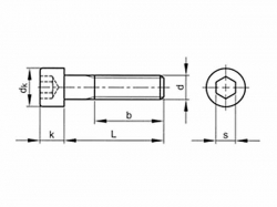 Šroub válcová hlava - inbus DIN 912 M36x130-8.8