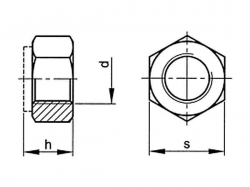 Matice samojistná DIN 985 M10x1,25  08  pozink