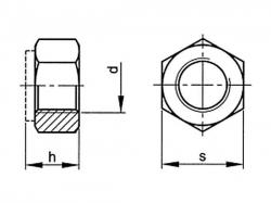 Matice samojistná DIN 985 M20x1,50  10  pozink