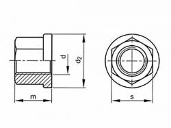 Matice s nákružkem DIN 6331 M6 |10| pozink