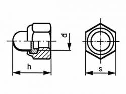 Matice klobouková samojistná DIN 986 M6 |06| pozink