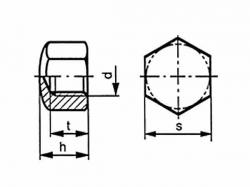 Matice uzavřená nízká DIN 917 M30 |06| pozink