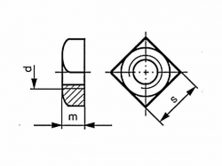 Matice čtyřhranná DIN 557 M8 pozink