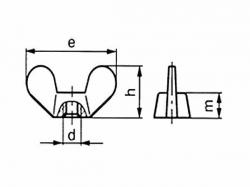 Matice křídlová DIN 315 M6 pozink