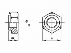 Matice pro přivaření DIN 929 M6