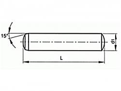 Kolík válcový kalený DIN 6325 8x16 m6