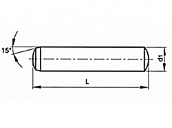 Kolík válcový kalený DIN 6325 10x90 m6
