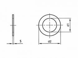 Podložka vymezovací DIN 988 PS 3x6x0,5
