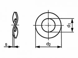 Podložka pružná zvlněná DIN 137B M10 / 10,5 pozink