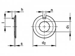 Podložka pojistná s nosem DIN 432 M6 / 6,4