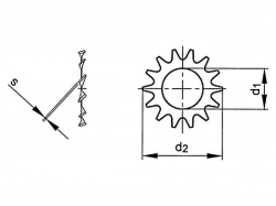 Podložka s vnějším ozubením DIN 6797A M12 / 13,0 pozink