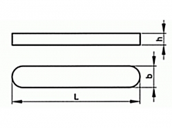 Pero těsné DIN 6885 A 8x7x45