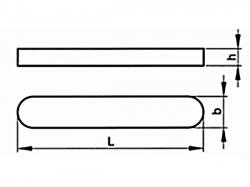 Pero těsné DIN 6885 A 8x7x180