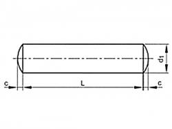 Kolík válcový DIN 7A m6 10x28